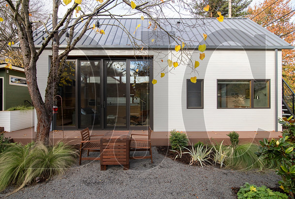 An accessory dwelling unit completed last spring in North Portland was designed by Webster Wilson, who says the constrained size of ADUs and the sites they occupy are the biggest challenges to their design. (Sam Tenney/DJC)