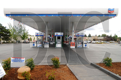 A new Chevron station at the corner of Allen and Murray boulevards in Beaverton features an eco-roof, a geothermal system, a solar array, and a free electric-vehicle charging station.