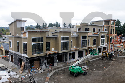 One of two mixed-use buildings being constructed for the projec, the South building, will house administrative offices and food services on the ground floor and residential space above it.