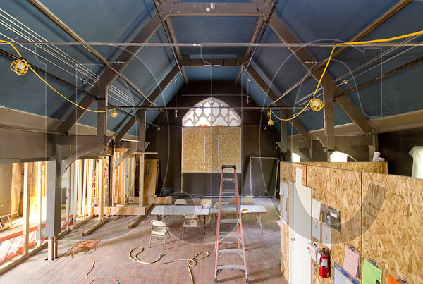 A 110-year-old former church in the King neighborhood of Northeast Portland is being renovated into a theater space for the Portland Playhouse. (Sam Tenney/DJC)