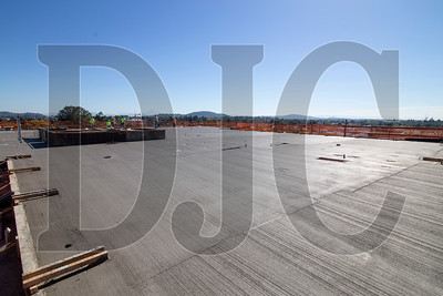 The first portion of the building's roof deck was poured last Friday, and the final pour is slated to follow this week.
