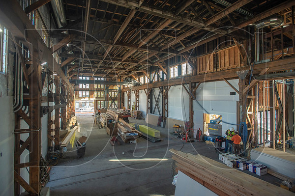 A century-old former ironworks building in the Central Eastside is being converted into an event center and food hub. (Josh Kulla/DJC)