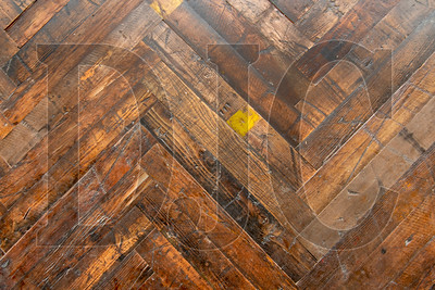 Reclaimed wooden flooring is being used on the ground-floor lobby and bar of the KEX Hostel. (Josh Kulla/DJC)