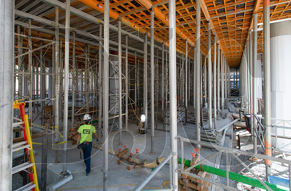 The ground floor of the Fourth and Montgomery building will feature 21-foot ceilings. (Josh Kulla/DJC)