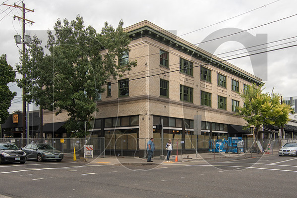The historic Vivian Apartments building at the corner of Northeast Martin Luther King, Jr. Boulevard and Couch Street is being converted to a KEX Hostel. (Josh Kulla/DJC)