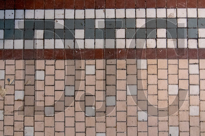 Original tile work in the building entrance remains in place. (Josh Kulla/DJC)