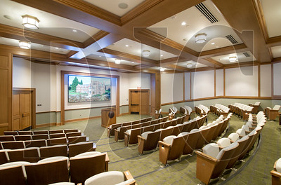A multi-purpose auditorium has a 146-seat capacity and a 79-square-foot high-definition display. (Sam Tenney/DJC)