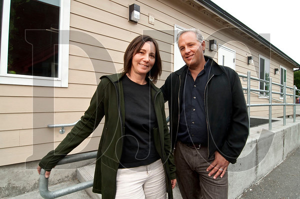 Architects Margarette Leite and Sergio Palleroni, a married couple who are both instructors at Portland State University and partners in the architecture firm PLDP, are working on making manufactured classrooms more sustainable without increasing the buildings' cost.