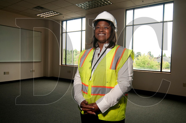 Sharon Maxwell-Hendricks, owner of North Portland-based general contractor Boanerges Group, stands in one of the three classrooms her company recently renovated at Portland Community College Cascade Campus.