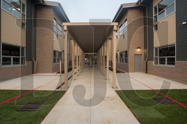 A side entrance at the new Troutdale Elementary School built by Bremik Construction and dedicated Wednesday by Reynolds School District. (Josh Kulla/DJC)