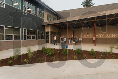 The front entrance of the new Troutdale Elementary School. (Josh Kulla/DJC)