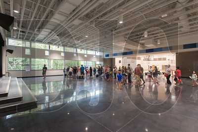 This multi-purpose room at the new Troutdale Elementary School also hosts a stage and serves as a gateway to the school gym and as a cafeteria. (Josh Kulla/DJC)