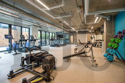 A fitness room is among the Revere's resident amenity spaces. (Josh Kulla/DJC)