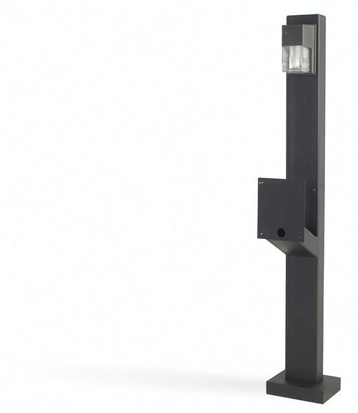Designer style mount post lighted gooseneck
