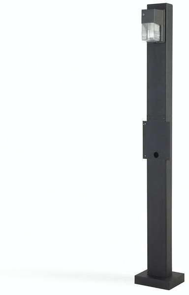 Designer style mount post lighted flush