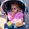 Madison having a snack waiting for DL to open 5-10-03