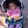 Madison having a snack waiting for DL to open 2 5-10-03