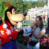 Goofy signing Madison's autograph book 11-10-02