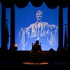 MR. PRESIDENT -- President Abraham Lincoln returns to the Main Street Opera House in Disneyland with stunning new Audio-Animatronics technology that makes this the most lifelike and expressive Lincoln figure yet.   Great Moments with Mr. Lincoln, a beloved Disneyland attraction for nearly 45 years and a historic landmark in the development of Audio-Animatronics technology, reopens Dec. 18 on Main Street, U.S.A. at Disneyland in Anaheim, Calif.  (Paul Hiffmeyer/Disneyland)