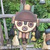 Hidden Jack Sparrow in the gate in front of the Enchanted Tiki Room at Disneyland