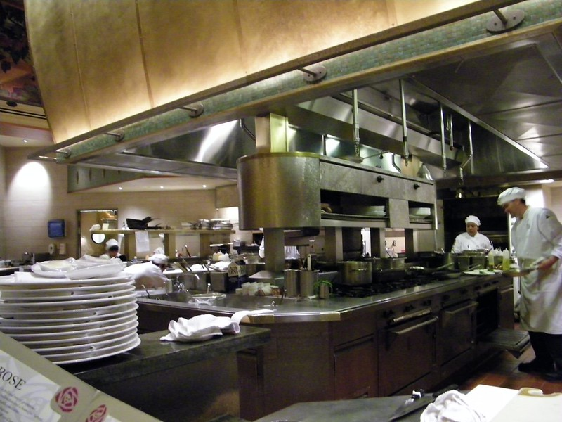The Napa Rose at Disney's Grand Californian Hotel & Spa. Valentine's Day Chef's Counter meal for two.