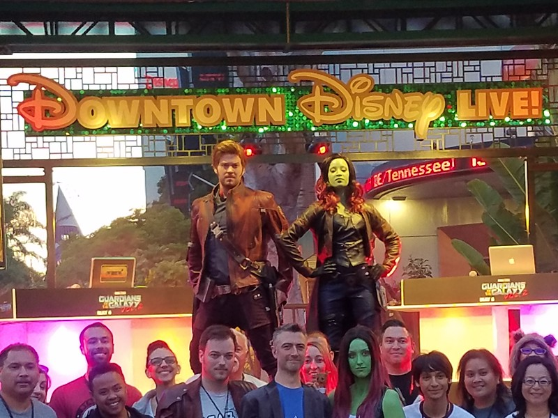 Star Lord and Gamora characters make surprise Downtown Disney appearance during DPB event
