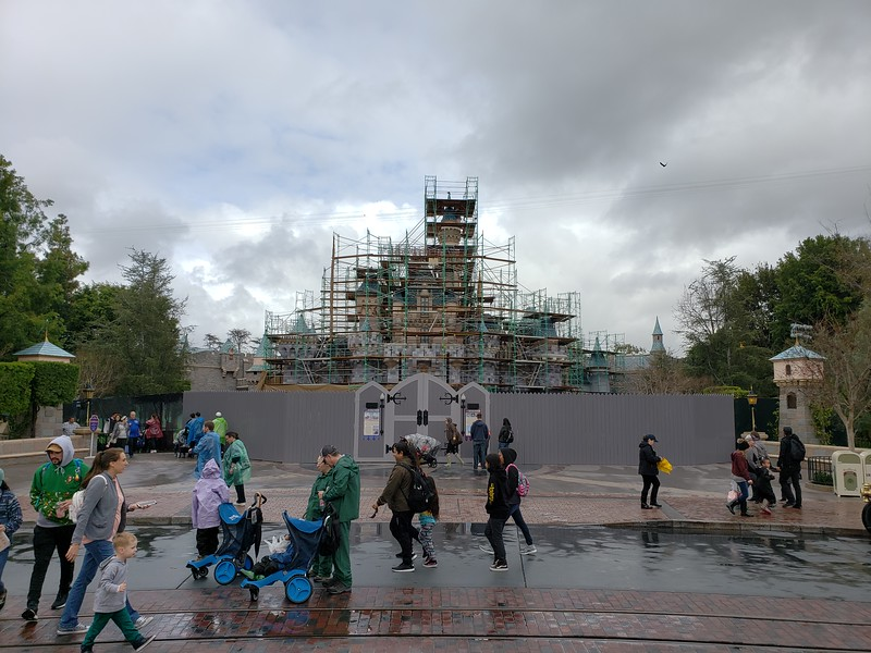 PICTORIAL: Sleeping Beauty Castle undergoes major work, rain bogs down construction and refurbishment projects