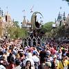 Crowds at Disneyland