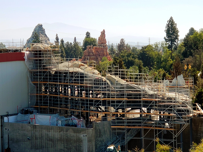 PICTORIAL: Major construction continues at Disneyland as Halloween Time season glows on