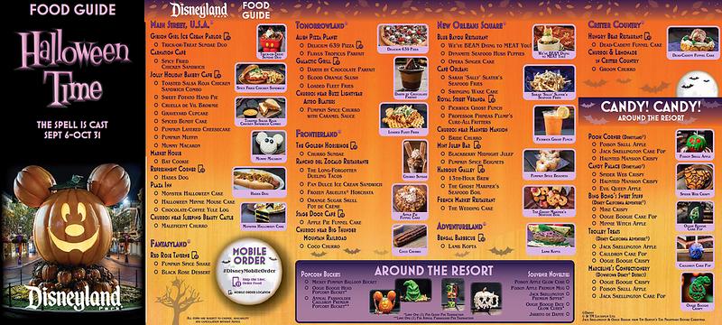 disneyland halloween 2019 foodie guide