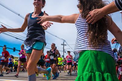 Give me five - Boston Marathon