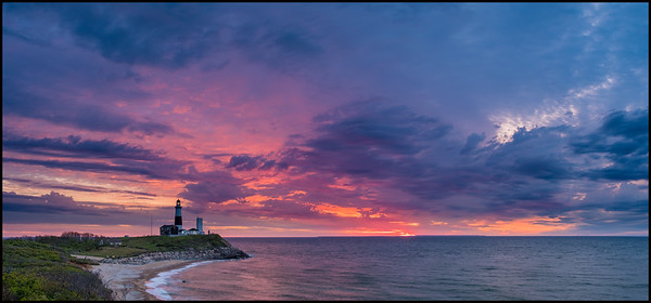 Pink Sky Over Montauk Point Lighthouse