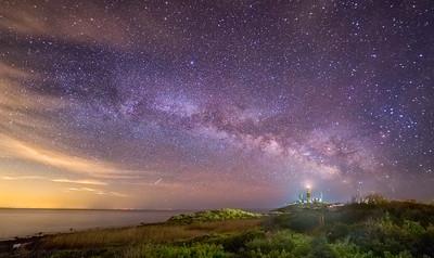 Milky Way Over Montauk Point Lighthouse, NY