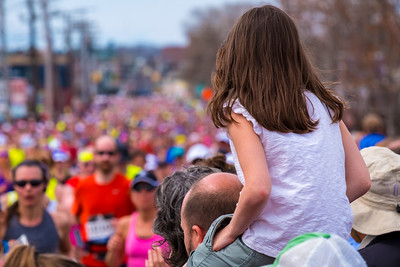 View From Dad's Shoulders - Boston Marathon