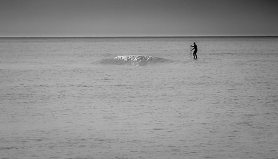 Lonely Long Island  Paddleboarder