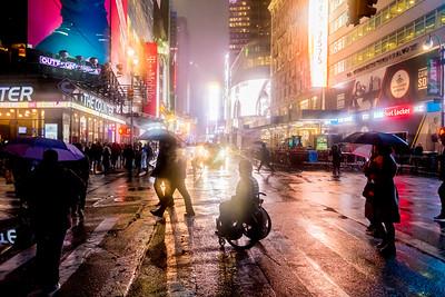 Rainy Night Times Square