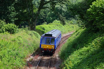 121020 on the 1405 Bodmin Parkway to Bodmin General at Coleslogett on the 23rd June 2018