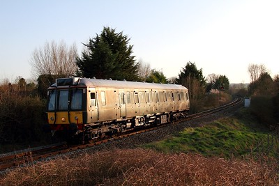 121034 glints away from Princes Risborough with the 2P46 1700 to Aylesbury on the 15th March 2017