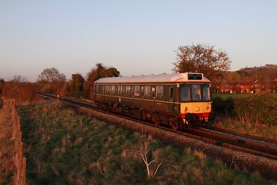 121034 on the 2P65 1726 Aylesbury to Princes Risborough approaching Princes Risborough on 15th March 2017