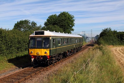 121034 on the 2P23 0849 Aylesbury to Princes Risborough departing Aylesbury near North Lee on the 4th July 2016