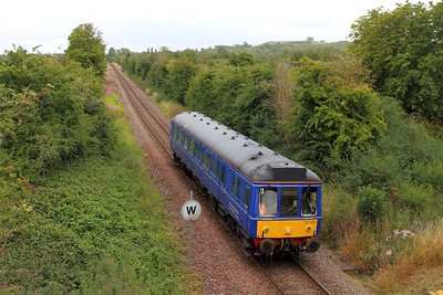121020 on the 2P75 1730 Aylesbury to Princes Risborough at Little Kimble on the 4th August 2015