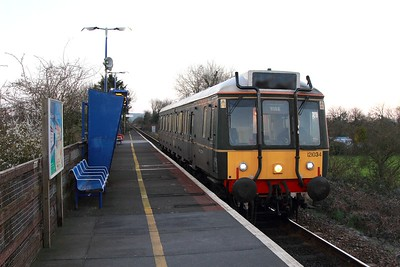 121034 on the 2A50 1806 Princes Risborough to Aylesbury at Monks Risborough on the 15th March 2017