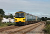 Class 143 2 Car Pacer DMU Set number 143 611 with 143 612 at the rear pass Cockwood Harbour with 2F17 0912 Paignton to Exmouth.<br /> 21st August 2017