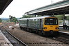 Class 143 2 Car Pacer DMU Set number 143 611 arrives at Exeter St Davids with 2T11 1023 Exmouth to Paignton.<br /> 24th August 2017