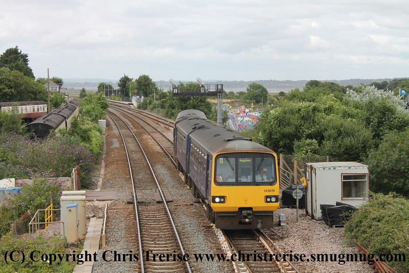 Class 143 and Class 153 at Dawlish Warren