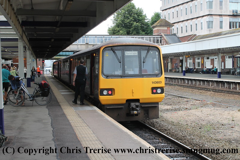 Class 143 at Exeter Central