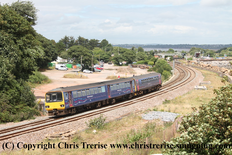 Class 153 and Class 143 at Langstone Rock