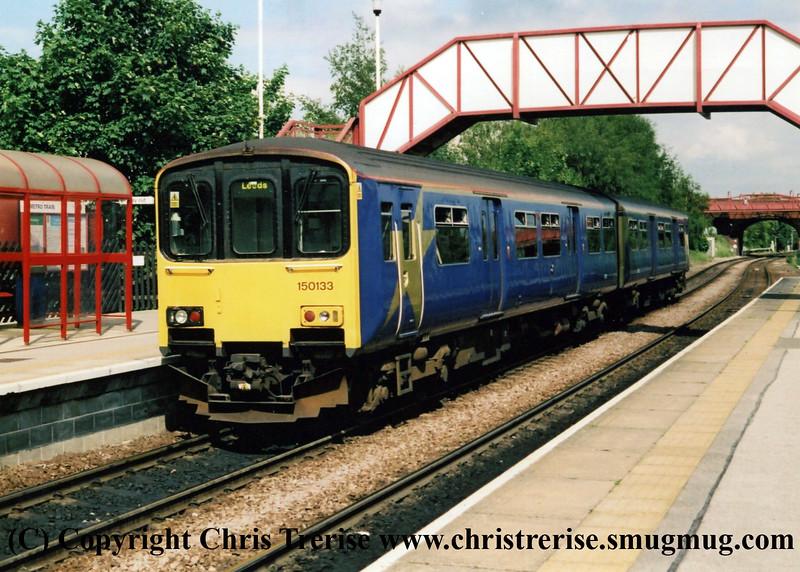 Class 150 DMU at Knottingley