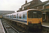 Class 150/1 2 Car Sprinter DMU Set number 150 115 with 150 106 behind at Cleethorpes.<br /> 14th May 1989