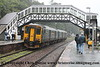Class 150/2 2 Car Sprinter DMU Set number 150 265 arrives at Bodmin Parkway in heavy rain with 2C45 0928 Exeter St Davids to Penzance.<br /> 22nd September 2018